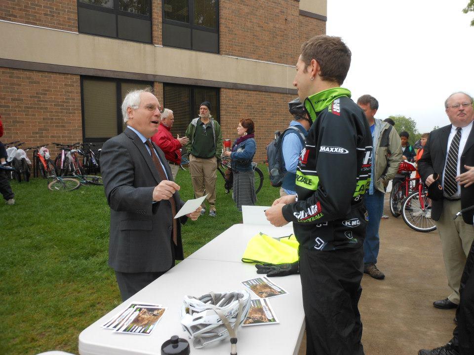 Harrisonburg City Schools Superintendent talks with our friend Jeremiah Bishop