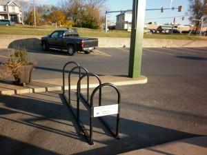 Friendly City Food Coop Bike Rack...one of the 2011 Bike Rack Grant Winners!