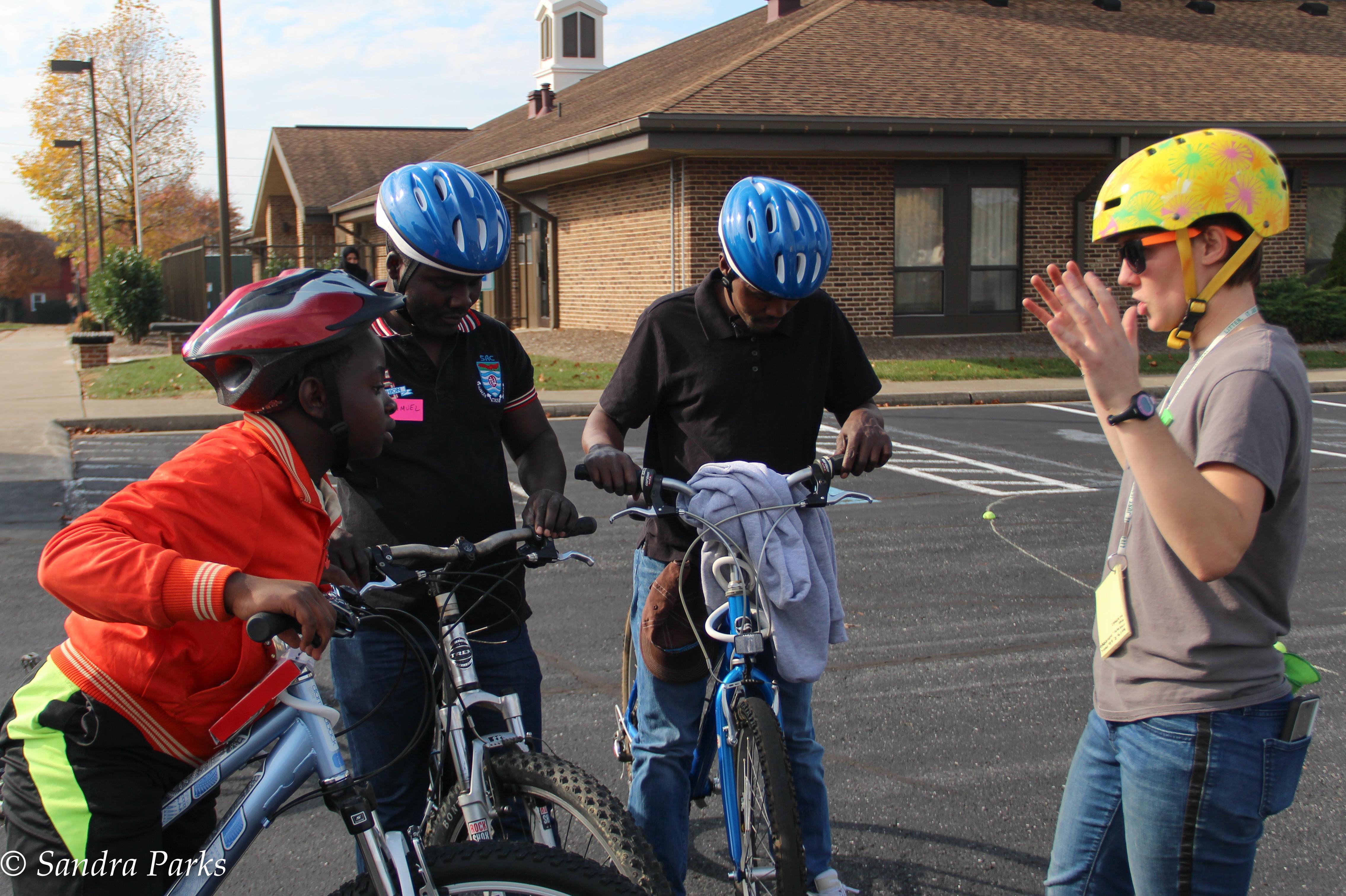 Refugee Cycling Class