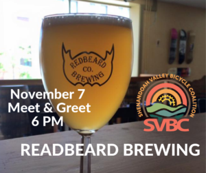 11/7: Meet & Greet your Bicycle Coalition in Staunton